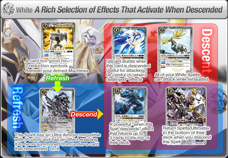 White: A Rich Selection of Effects That Activate When Descended